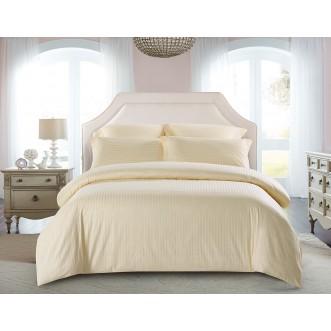 Купить постельное белье Однотонное страйп сатин CST01-02 1/5 спальное Tango