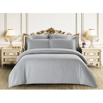 Купить постельное белье Однотонное страйп сатин CST01-03 1/5 спальное Tango