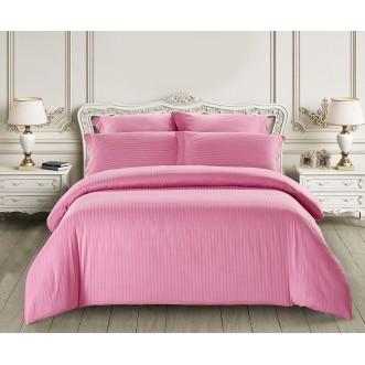 Купить постельное белье Однотонное страйп сатин CST01-06 1/5 спальное Tango