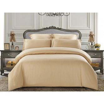 Купить постельное белье Однотонное страйп сатин CST01-07 1/5 спальное Tango