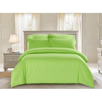 Купить постельное белье Однотонное страйп сатин CST01-10 1/5 спальное Tango