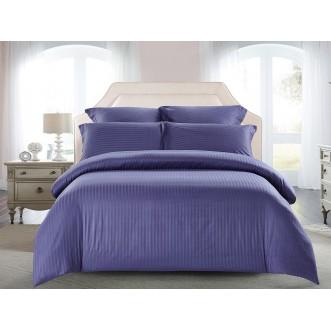 Купить постельное белье Однотонное страйп сатин CST01-11 1/5 спальное Tango
