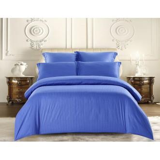 Купить постельное белье Однотонное страйп сатин CST01-12 1/5 спальное Tango
