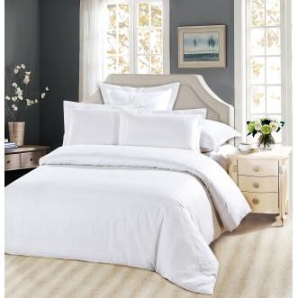 Купить постельное белье Однотонное страйп сатин FST02-50 2 спальное Tango