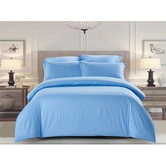 Купить постельное белье Однотонное страйп сатин CST05-04 семейный «Дуэт» Tango