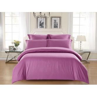 Купить постельное белье Однотонное страйп сатин CST05-13 семейный «Дуэт» Tango