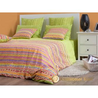 Постельное белье Танзания лайм 2 спальное Хлопковый край