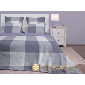Постельное белье Лондон серый 2 спальное Хлопковый край