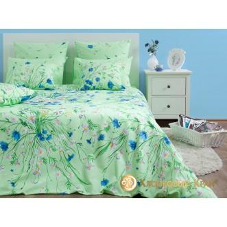 Постельное белье Есения зеленый 1,5-спальное Хлопковый край