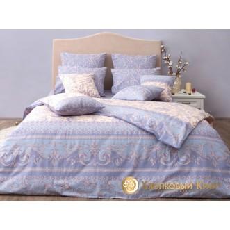 Постельное белье Венеция серый 2 спальное Хлопковый край