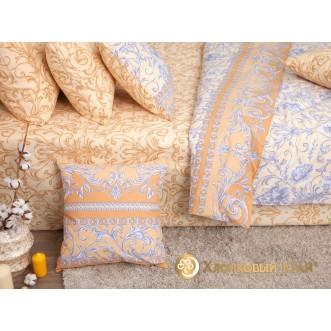 Постельное белье Венеция голд семейное Хлопковый край фото