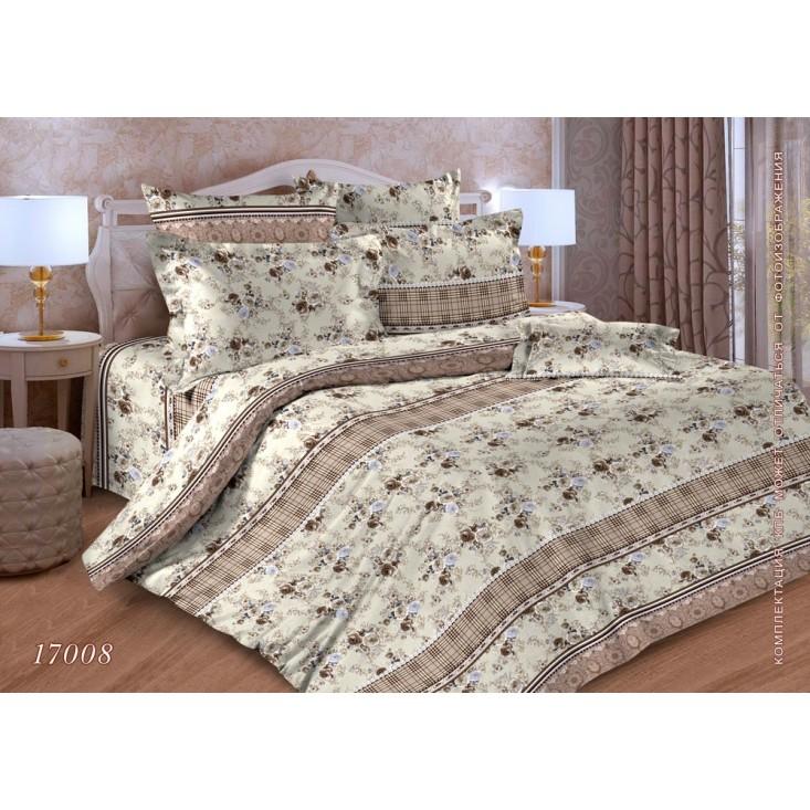 Постельное белье Цветы клетка 1,5-спальное бязь Чебоксарский текстиль