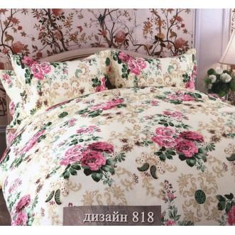 Постельное белье Розы цикламен 2 спальное бязь Чебоксарский текстиль