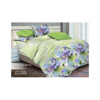 Постельное белье Нежные цветы 2 спальное бязь Чебоксарский текстиль
