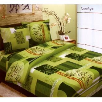 Постельное белье Бамбук салатовый 2 спальное бязь Чебоксарский текстиль