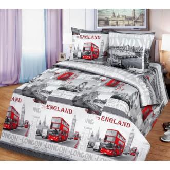 постельное белье Лондон серый Евро бязь Чебоксарский текстиль
