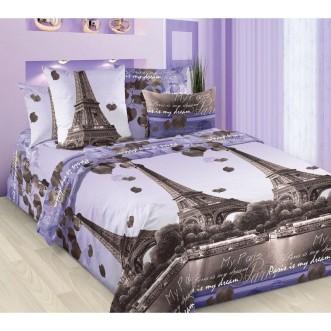 постельное белье Романтика Парижа Евро бязь Чебоксарский текстиль