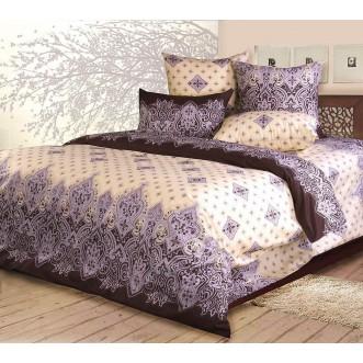 постельное белье Садко коричневый Евро бязь Чебоксарский текстиль