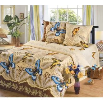 постельное белье Эйфория Бабочки Евро бязь Чебоксарский текстиль