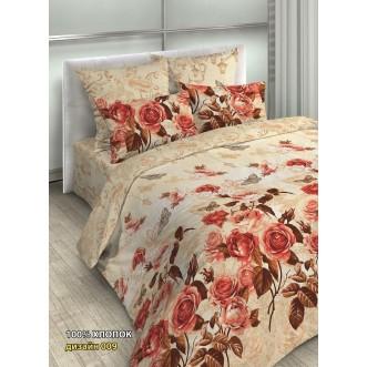 постельное белье Осень розы Евро бязь Чебоксарский текстиль