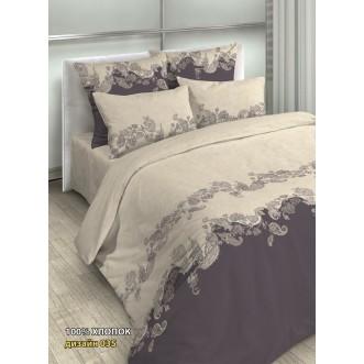 постельное белье Сицилия беж Евро бязь Чебоксарский текстиль
