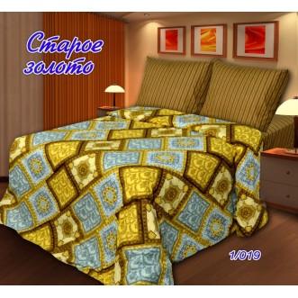постельное белье Старое золото Евро бязь Чебоксарский текстиль