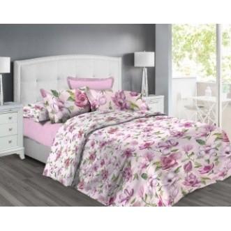 постельное белье Цветущая магнолия Евро бязь Чебоксарский текстиль