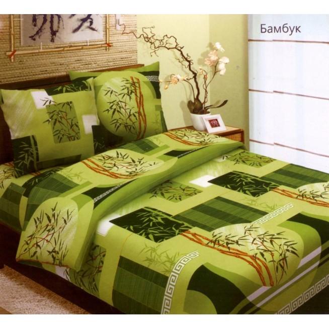 постельное белье Бамбук салатовый Евро бязь Чебоксарский текстиль