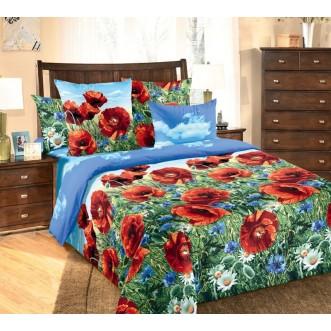 постельное белье Маковый цвет семейное бязь Чебоксарский текстиль