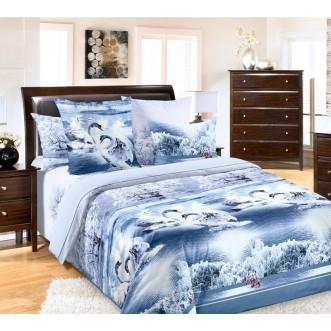 постельное белье Лебединое озеро семейное бязь Чебоксарский текстиль
