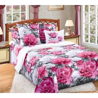 постельное белье Пионы семейное бязь Чебоксарский текстиль