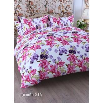 постельное белье Нарциссы цикламен семейное бязь Чебоксарский текстиль