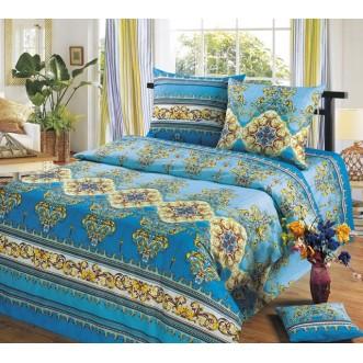 постельное белье Версаль голубой семейное бязь Чебоксарский текстиль