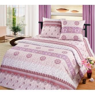 постельное белье Каскад коричневый семейное бязь Чебоксарский текстиль