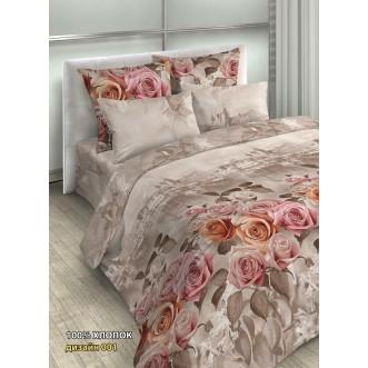постельное белье Венеция розы семейное бязь Чебоксарский текстиль