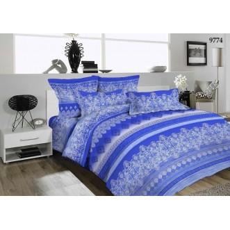 постельное белье Адажио синий семейное бязь Чебоксарский текстиль