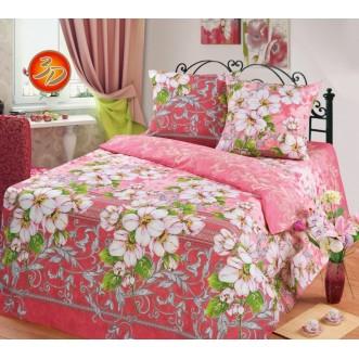 постельное белье Яблоневый цвет семейное бязь Чебоксарский текстиль