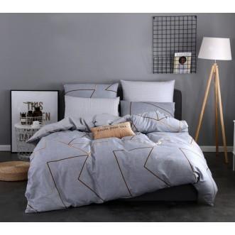 Купить постельное белье Люкс-сатин AR064 семейное простынь на резинке Ситрейд