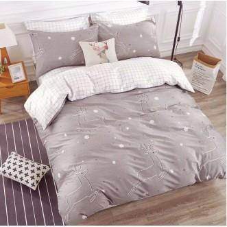 Купить постельное белье Люкс-сатин AR065 семейное простынь на резинке Ситрейд