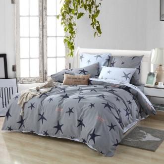 Купить постельное белье Люкс-сатин AR069 семейное простынь на резинке Ситрейд