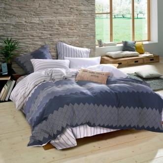 Купить постельное белье Люкс-сатин AR071 семейное простынь на резинке Ситрейд