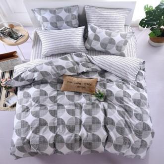 Купить постельное белье Люкс-сатин AR075 семейное простынь на резинке Ситрейд