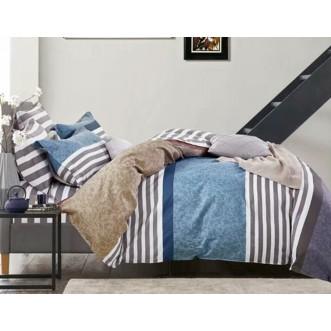 Купить постельное белье Люкс-сатин AR054 2 спальное простынь на резинке Ситрейд