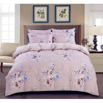 Купить постельное белье Люкс-сатин AR057 2 спальное простынь на резинке Ситрейд