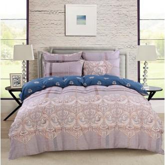 Купить постельное белье Люкс-сатин AR058 2 спальное простынь на резинке Ситрейд