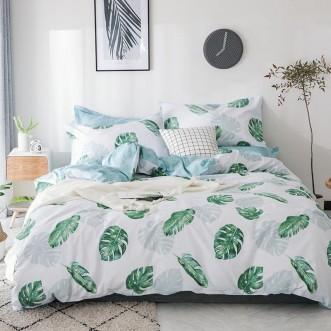 Купить постельное белье Люкс-сатин AR063 2 спальное простынь на резинке Ситрейд