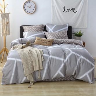 Купить постельное белье Люкс-сатин AR067 2 спальное простынь на резинке Ситрейд