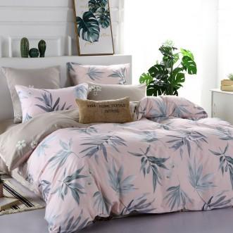 Купить постельное белье Люкс-сатин AR070 2 спальное простынь на резинке Ситрейд