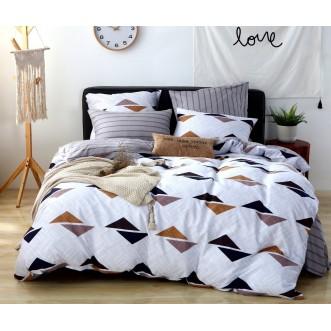 Купить постельное белье Люкс-сатин AR076 2 спальное простынь на резинке Ситрейд