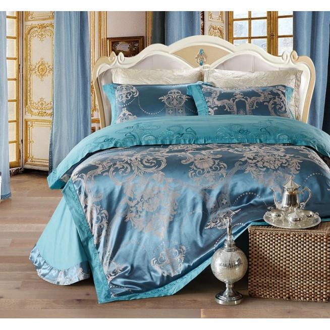 Купить комплект постельного белья Жаккард TJ112-23 семейный «Дуэт» Cristelle